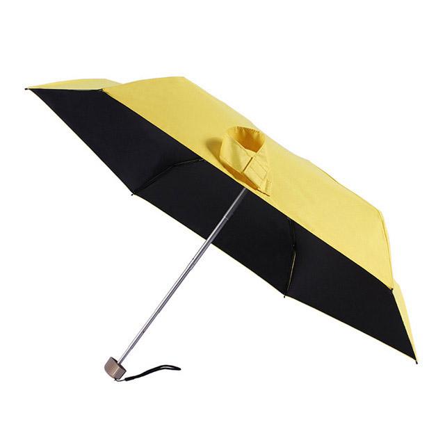 Umbrella factory custom ultra light 210D full blackout vinyl five fold umbrella