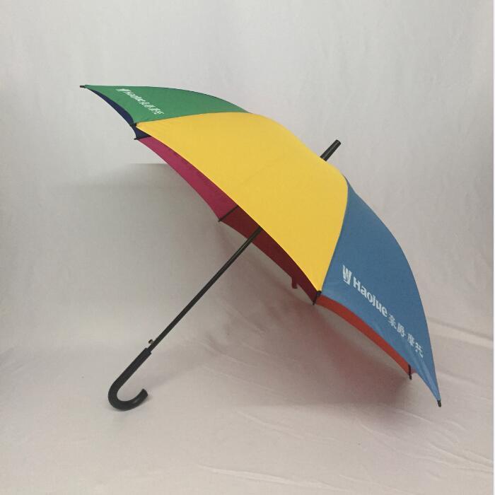 manbetx客户端ios厂家低价订制27寸弯柄彩虹伞 5000把12天出货