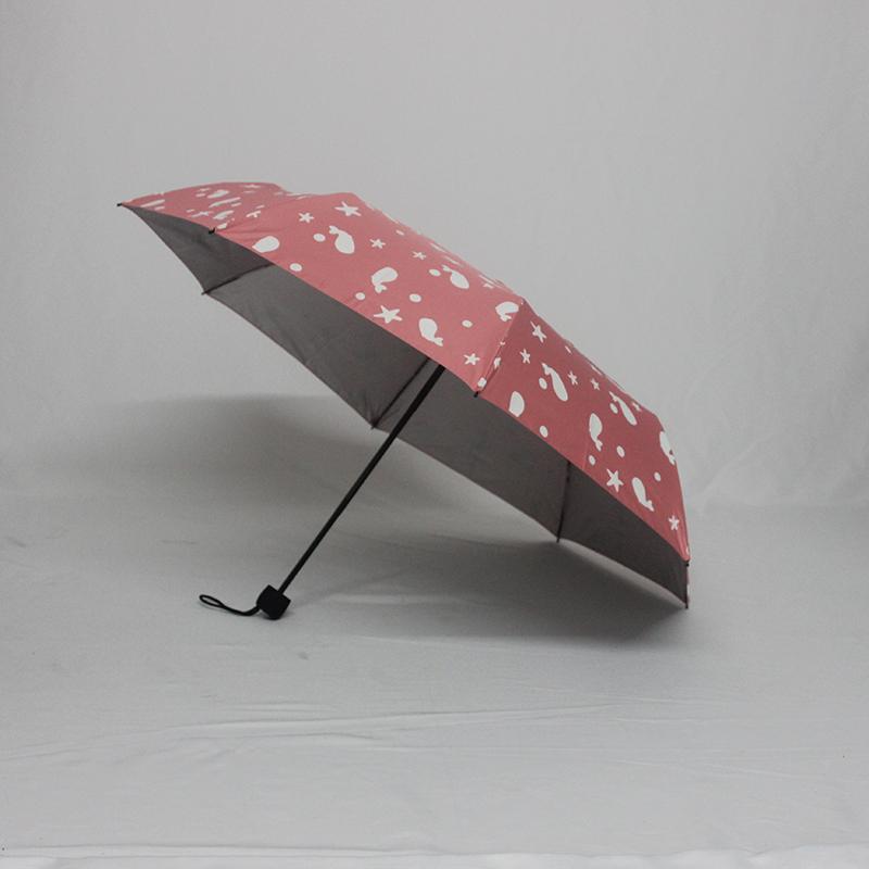万博体育官网客户端厂家订制高档防紫外线遇水变色三折遮阳伞